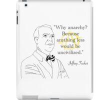 Why Anarchy iPad Case/Skin