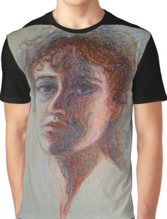 Two Faces - Portrait Of A Woman - Outsider Art Graphic T-Shirt