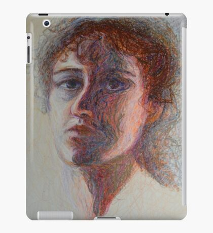 Two Faces - Portrait Of A Woman - Outsider Art iPad Case/Skin