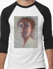 Two Faces - Portrait Of A Woman - Outsider Art Men's Baseball ¾ T-Shirt
