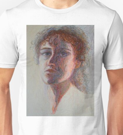 Two Faces - Portrait Of A Woman - Outsider Art Unisex T-Shirt