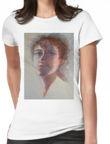 Two Faces - Portrait Of A Woman - Outsider Art Womens Fitted T-Shirt