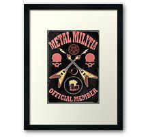 Metal Militia Vintage Framed Print