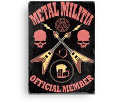 Metal Militia Vintage Canvas Print