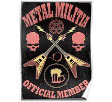Metal Militia Vintage Poster