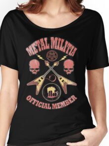 Metal Militia Vintage Women's Relaxed Fit T-Shirt