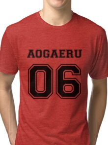 Spirited Away - Aogaeru Varsity Tri-blend T-Shirt
