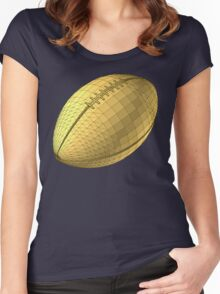 rugby ball Women's Fitted Scoop T-Shirt