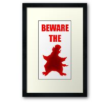 Beware the Penguin Framed Print