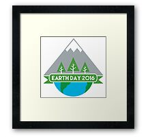 Earth Day 2016 Framed Print
