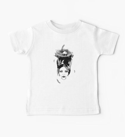 Head Full of Feathers Baby Tee