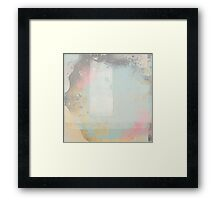 artified blue with accents Framed Print