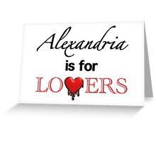 """The Walking Dead - """"Alexandria Is For Lovers"""" Comic Style Greeting Card"""
