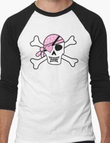 Girly Skull Men's Baseball ¾ T-Shirt