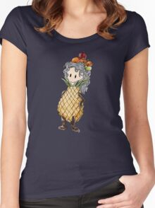 pinup-ple girl  Women's Fitted Scoop T-Shirt