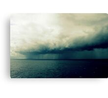 On The  Horizon A Storm Is Brewing Canvas Print