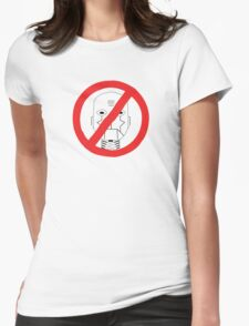 Robots Outlawed Womens Fitted T-Shirt
