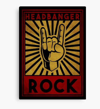 Headbanger  Canvas Print