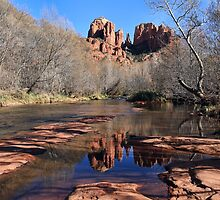 Cathedral Rock Reflections by Teresa Zieba