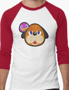 DUCK HUNT DUO ANIMAL CROSSING Men's Baseball ¾ T-Shirt