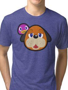 DUCK HUNT DUO ANIMAL CROSSING Tri-blend T-Shirt