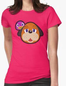 DUCK HUNT DUO ANIMAL CROSSING Womens Fitted T-Shirt