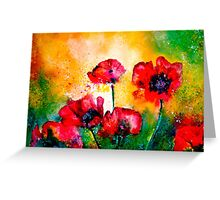 The Rhythm Of Life...Poppies Greeting Card