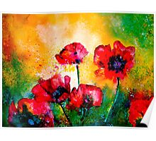 The Rhythm Of Life...Poppies Poster