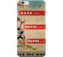 Save Waste for Weapons iPhone Case/Skin