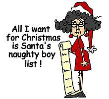 Santa's Naughty List Funny Christmas Holiday Photographic Print