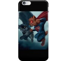 Batcat vs Superdog iPhone Case/Skin