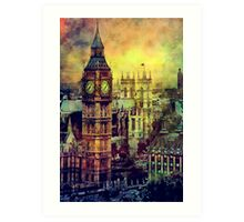 London BigBen Watercolor Art Print