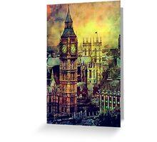 London BigBen Watercolor Greeting Card