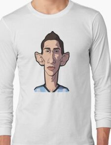 Di maria caricature Long Sleeve T-Shirt