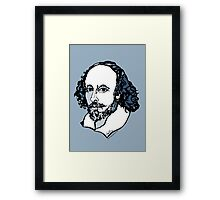William Shakespeare : The Bard Framed Print