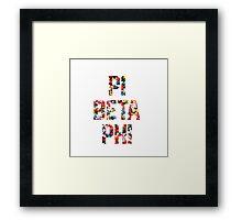 Pi Phi sprinkles Framed Print