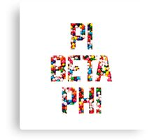 Pi Phi sprinkles Canvas Print