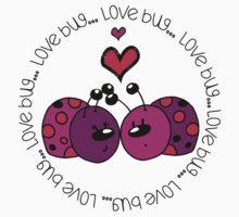 Valentine's Day Love Bug One Piece - Short Sleeve
