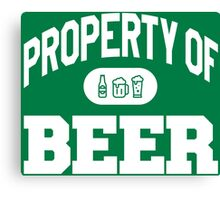 Property Of BEER Canvas Print