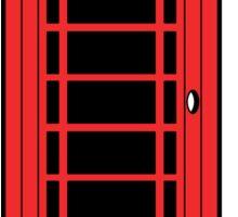 British Red Phone Box Sticker
