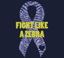 Fight Like a Zebra - Purple Kids Tee