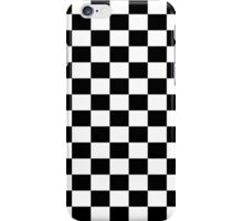 Small Black White Check Motorsport Race Flag Checkered Skirt Pillow iPhone Case/Skin