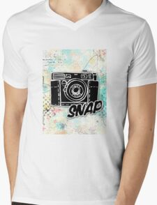 Snap Mens V-Neck T-Shirt