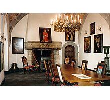Salle à manger - Château de Chimay - Belgique Photographic Print