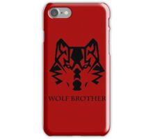 Wolf Brother (Black) iPhone Case/Skin