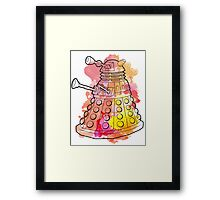 Dalek Watercolour Framed Print