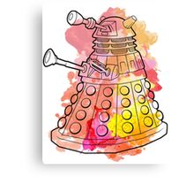 Dalek Watercolour Canvas Print