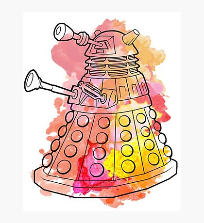 Dalek Watercolour Photographic Print