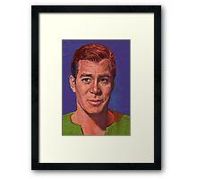 William Shatner is Captain James T. Kirk Framed Print