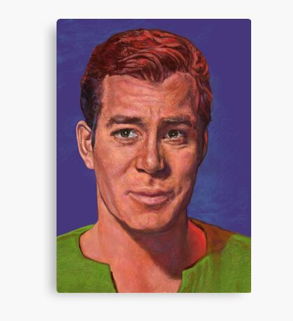 William Shatner is Captain James T. Kirk Canvas Print